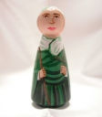 Brigid Wood Doll