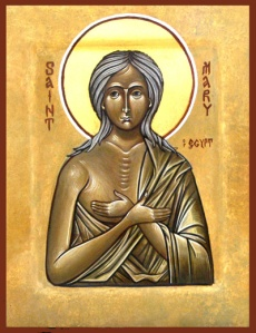 A portrait of St. Mary of Egypt