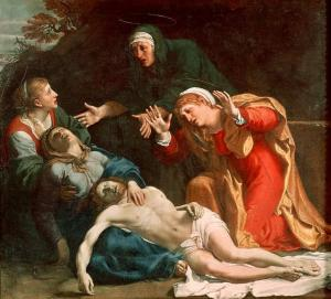 The Dead Christ Mourned by Carracci