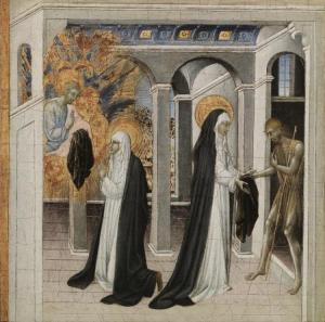 St. Catherine helping the beggar http://www.clevelandart.org/art/1966.3