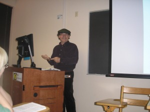 Eric teaching us about Hildegard's music.