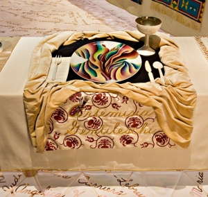 From Judy Chicago's The Dinner Party.