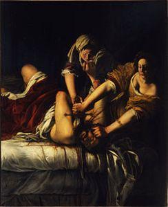 Judith Slaying Holofernes (1614–20) Oil on canvas 199 x 162 cm Galleria degli Uffizi, Florence