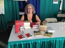 Susan signing books at the Texas Book Festival.