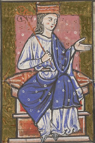 Æthelflæd (from The Cartulary and Customs of Abingdon Abbey, ca 1220).