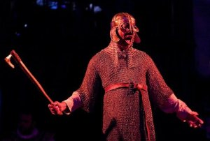 Here is Cyrus acting as Beowulf in a theatrical production. I always knew Cyrus had a medieval spirit!