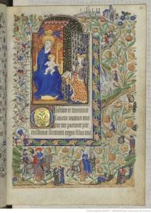Fol. 25r, The Book of Hours of Marguerite d'Orleans, Bibliothèque nationale de France, Département des manuscrits, Latin 1156B, Public Domain (Wikipedia Commons)