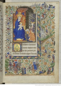 Fol. 25r, The Book of Hours of Marguerite d'Orleans, Bibliothèque nationale de France, Département des manuscrits, Latin 1156B, Public Domain (Wikipedia Commons)